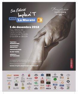 La jornada 'Implica't amb La Marató' de la Familia Torres será el sábado