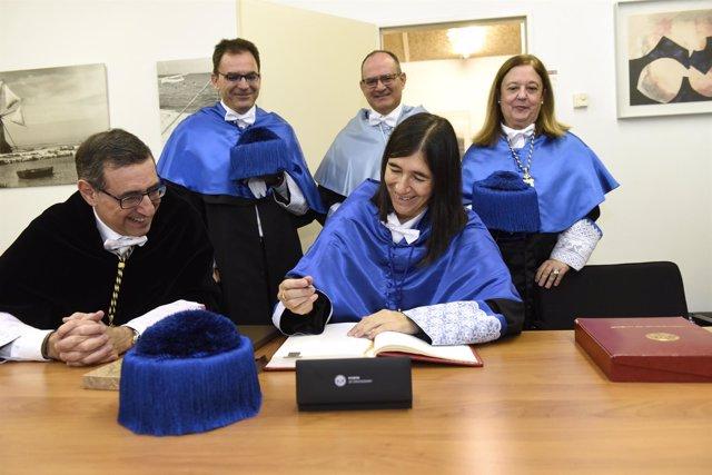 La investigadora María Blasco ingresa en el claustro de la Universidad de Murcia