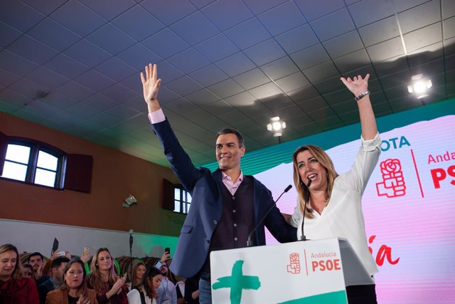 En Chiclana de la Frontera (Cádiz), el secretario general del PSOE y presidente
