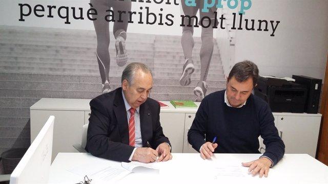 Carles Guilera (Cámara de Barcelona) y José Ángel Carcelén (Ayuntamiento)