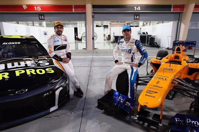 Fernando Alonso Jimmie Johnson NASCAR