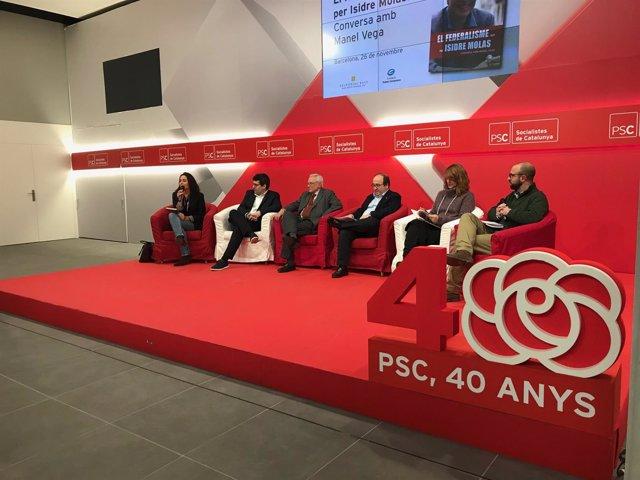 Miquel Iceta (PSC) en la presentación de un libro sobre Isidre Molas