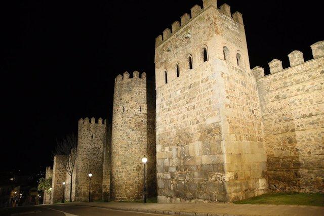 Nueva iluminación en la muralla de Toledo