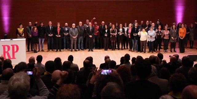 Fotografía de grupo de la entrega de 'Els Premis Republicans'