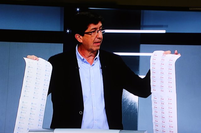 El candidato a presidir la Junta por Ciudadanos, Juan Marín