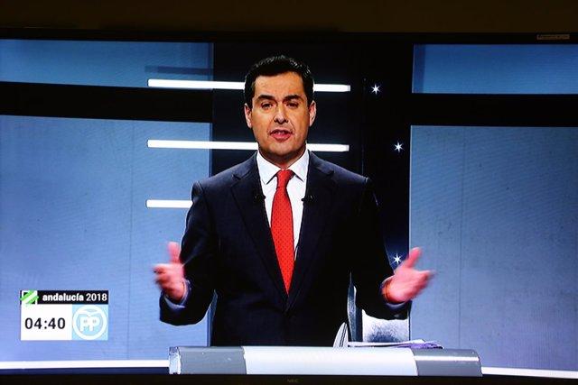 El presidente del PP-A y candidato a la Presidencia, Juanma Moreno