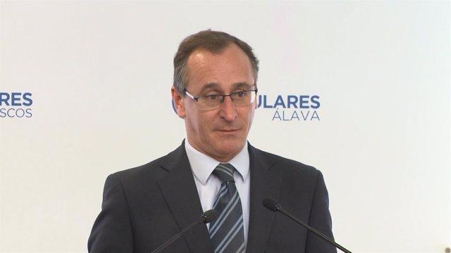 Alfonso Alonso, presidente del PP vasco (archivo)