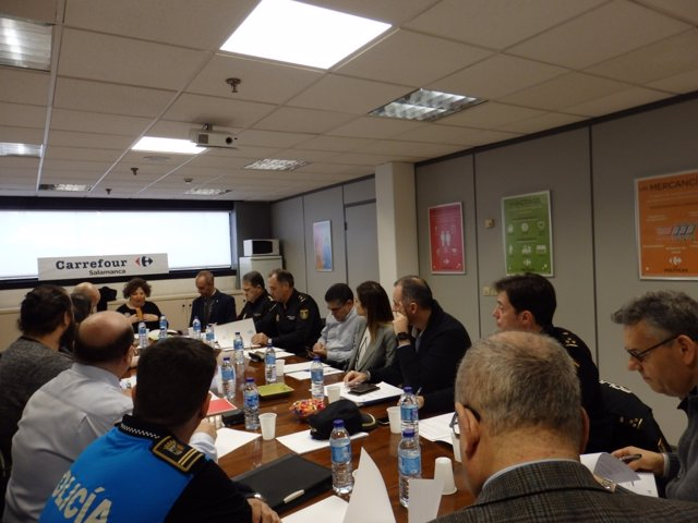 Reunión de preparación para el simulacro de ataque terrorista en Salamanca