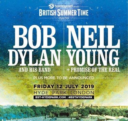 Bob Dylan y Neil Young, juntos en el Hyde Park de Londres