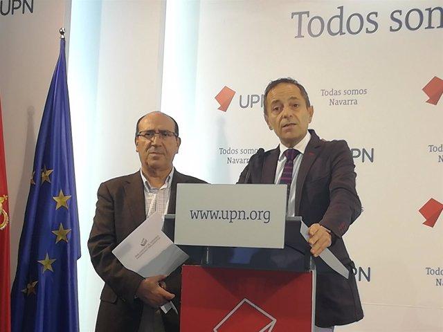 Los parlamentarios Mariano Herrero y Juan Luis Sánchez de Muniáin.