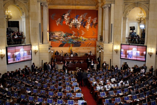 Colombia's congress is seen before the swearing in ceremony of a new congress, w