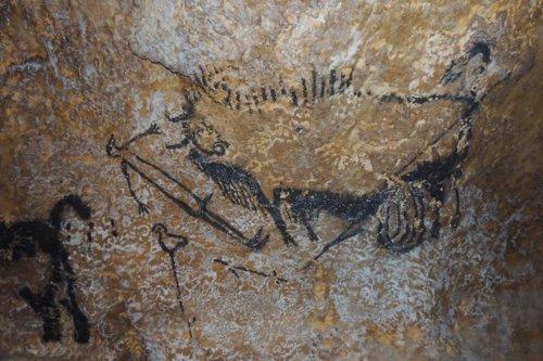 Escena del pozo de la cueva de Lascaux