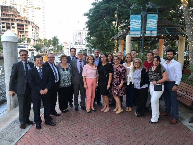 Delegación de senadores que han acudido al arranque del juicio a Pablo Ibar