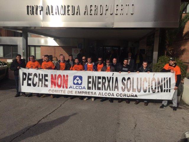 Comité de Alcoa antes de reunión en Madrid