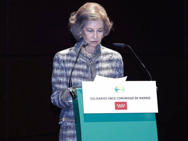 La Reina Sofía recibe un galardón muy especial de la mano de la 'ONCE'