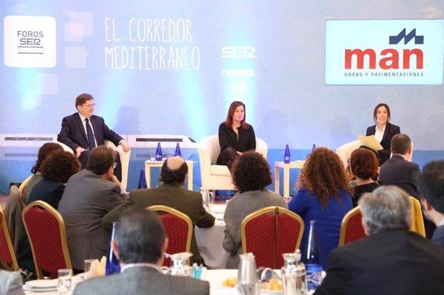 Presidenta del Govern, Francina Armengol, y presidente de la C. Valenciana, Puig