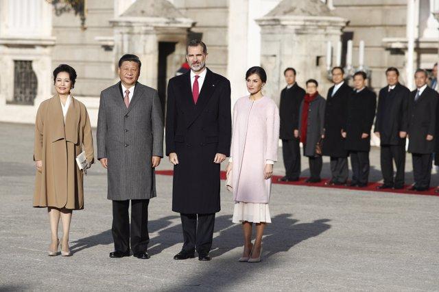 Recibimiento oficial de los Reyes al presidente de la República Popular China, S