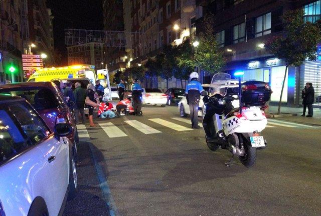 Atropello en la calle Gamazo de Valladolid