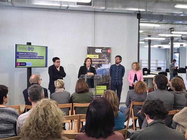 Gerardo Pisarello, Ada Colau, Álvaro Porro y Sara Berbel