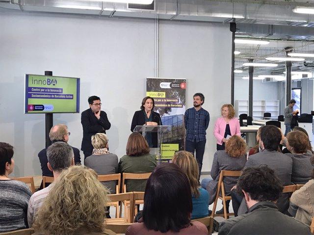 Gerardo Pisarello, Ada Colau, Álvaro Porro i Sara Berbel