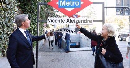 Las estaciones de Metro de Metropolitano y Atocha cambian de nombre este sábado a Vicente Aleixandre y Estación del Arte