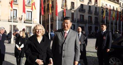 Caos circulatorio en Madrid por los cortes y medidas de seguridad con la visita de Xi Jinping