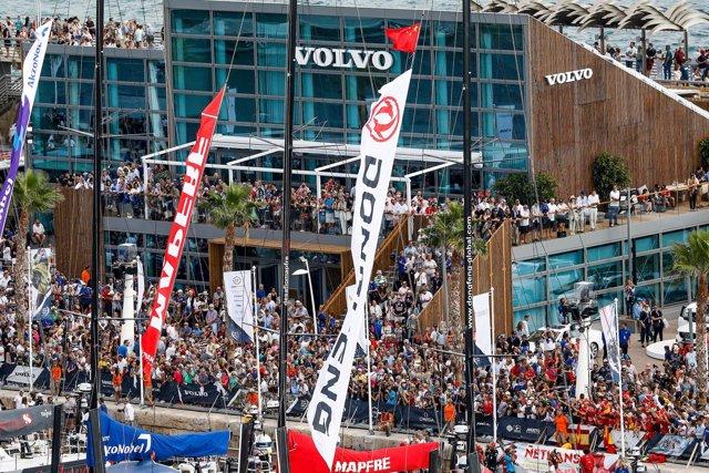 Salida de la Volvo Ocean Race en Alicante en 2017