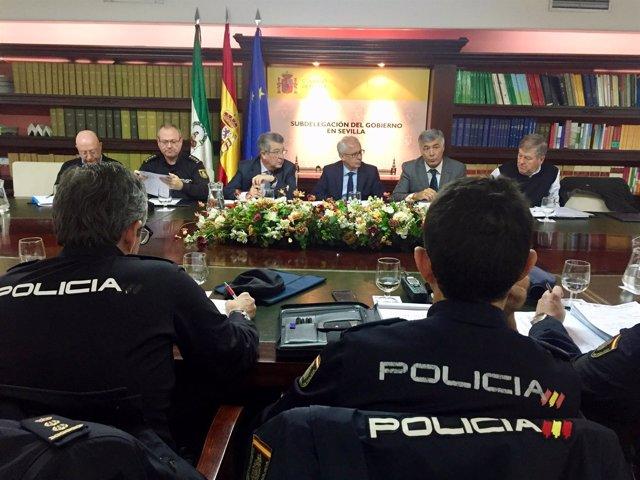 Reunión de coordinación del dispositivo de seguridad del Real Betis-Olympiacos