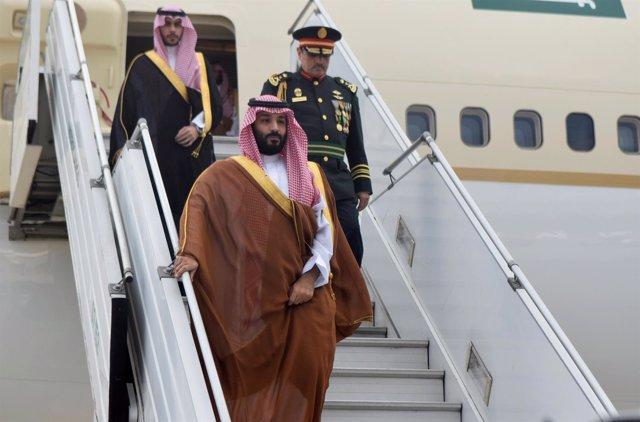 El príncipe heredero de Arabia Saudí, Mohamed bin Salmán, llega a Argentina