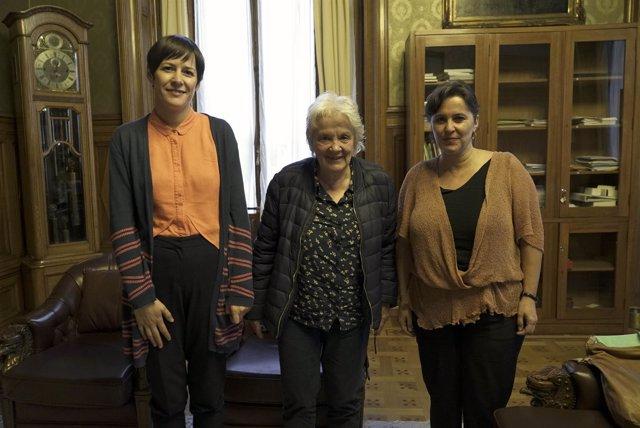 Ana Pontón y Ana Miranda, con la vicepresidenta de Uruguay