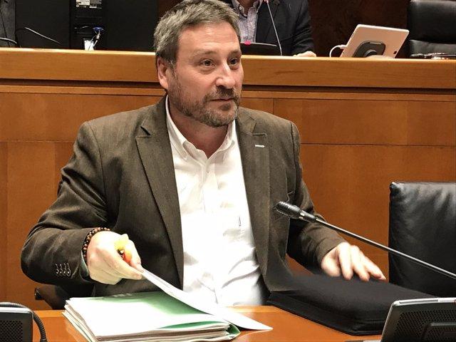 José Luis Soro ha comparecido esta tarde en comisión en las Cortes