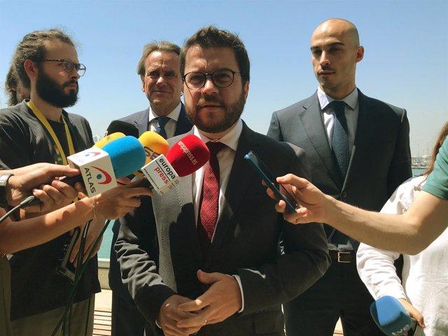 El vicepresidente del Govern, Pere Aragonès, en una imagen de archivo
