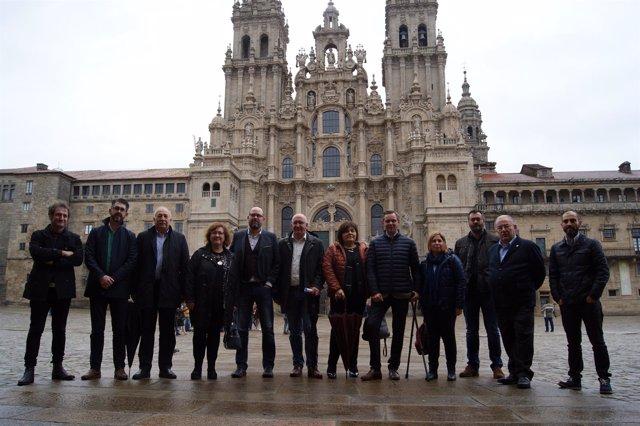 Alcaldes del Camino a Santiago por la ría Muros-Noia