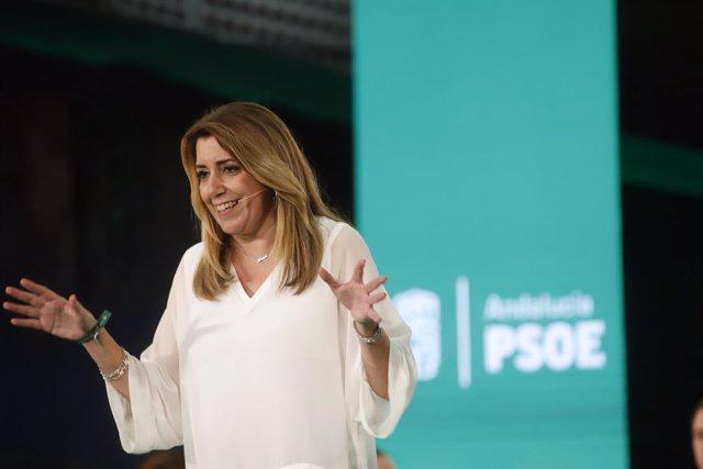 Presidenta de la Junta y candidata socialista a la reelección, Susana Díaz