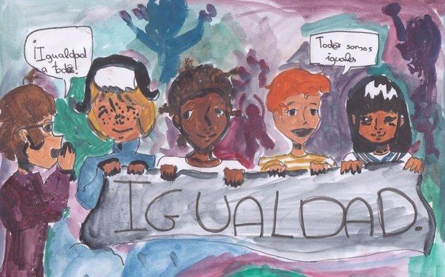 Dibujo ganador del concurso 'Así veo mis derechos'