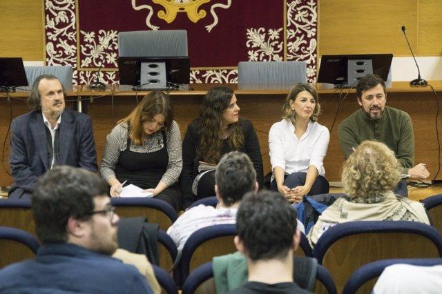 Gómez-Reino en el acto de rendición de cuentas en Santiago