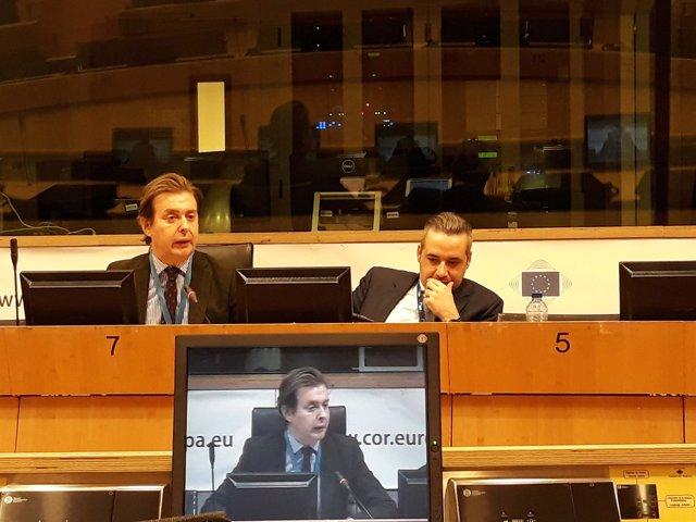 Jesús Gamallo en Bruselas, durante la reunión del NAT del Comité Europeo
