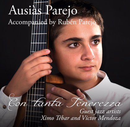 Un guitarrista valenciano de 12 años graba su primer disco a dúo con su padre