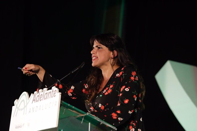 Candidata a la Presidencia de la Junta por Adelante Andalucía, Teresa Rodríguez