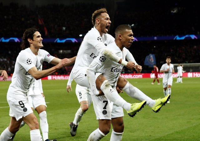 París Saint-Germain Liverpool, Neymar, Mbappé y Cavani