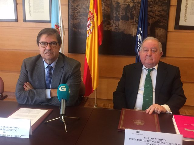 Julio Abalde y Carlos Merino, convenio UDC-Navantia