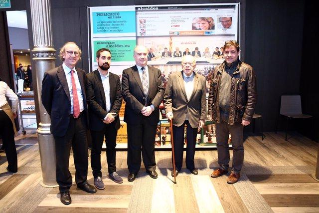 F.Xavier Roca, Dídac Manresa, Miquel Salvador, Jordi Pujol y M.A.Escoba