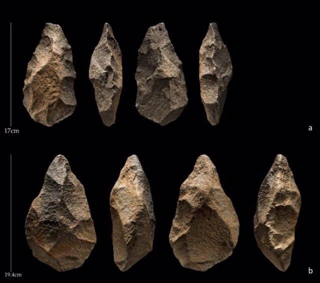 Herramientas ascentrales excavadas en Saffaqah, Arabia