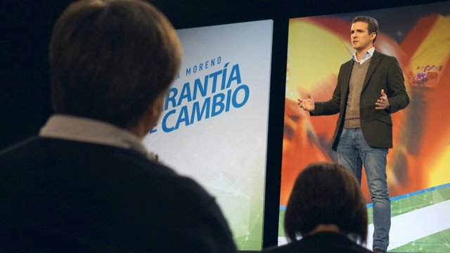 Pablo Casado líder del PP presidente mitin acto público 2D elecciones