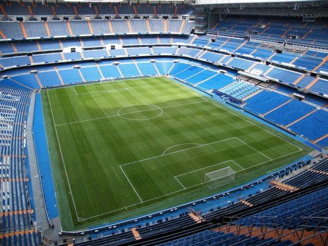 Vista panorámica del estadio Santiago Bernabéu