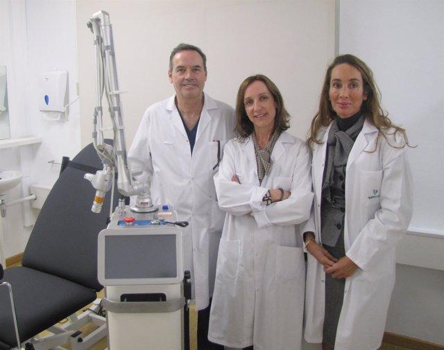 María Calvo, Elisa Pinto y Manuel Chamorro, Ruber Juan Bravo