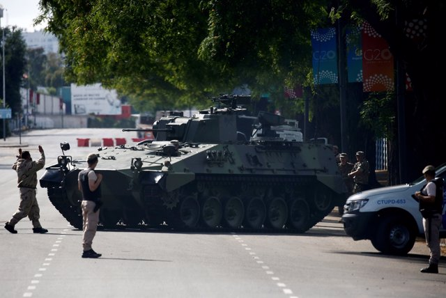 Security is seen outside the site of the G20 leaders summit in Buenos Aires, Arg