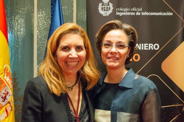 Nuria Oliver (Vodafone) y Marta Balenciaga (COIT)