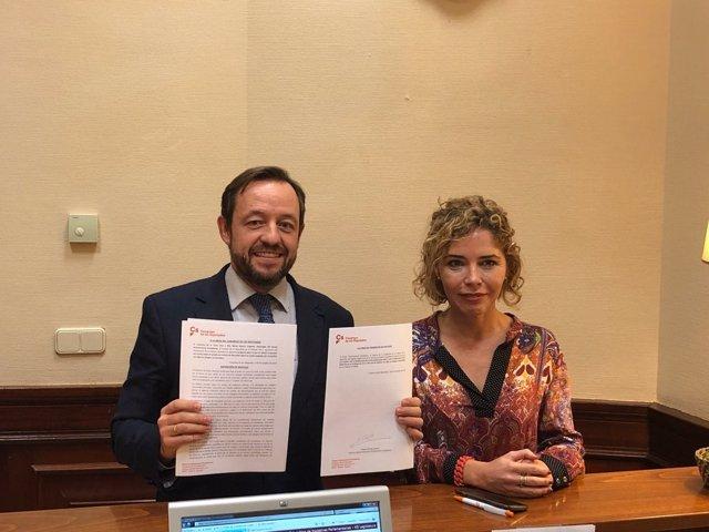 Los diputados de Ciudadanos Francisco de la Torre y Marta Martín