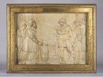 El relleu restaurat de la Benedicció de Melquisedec a favor d'Abraham